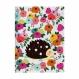 Caderno Pontado Floral - 13 x 18 cm