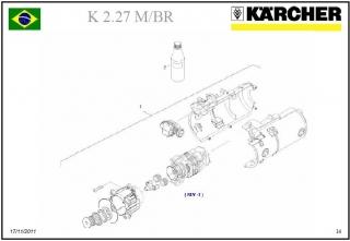 Conjunto de Motor K 2.27 127V