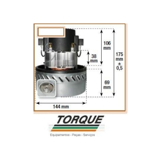 Motor Dupla Turbina 127V para GHIBLI/JACTO/SOTECO/ARTLAV/SCHULTZ